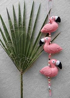 Cute flamingo garland Pink flamingo garland Nursery decor Beautiful decor element for your home - Fabric Crafts Baby Crafts, Felt Crafts, Home Crafts, Fabric Crafts, Crafts For Kids To Make, Kids Crafts, Craft Projects, Arts And Crafts, Craft Ideas