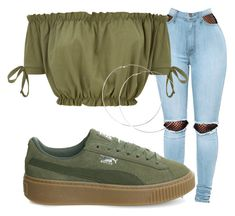 """""""Senza titolo #52"""" by serenalaterra-1 on Polyvore featuring moda, WithChic e Puma"""