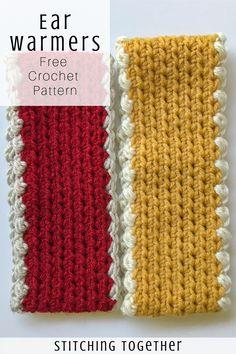 Crochet Crochet Ear Warmer Pattern and Size Chart Love, Ear Warmer Pattern and Size Chart Looking for a simple crochet ear warmer pattern? You& love how basic this free pattern is but it isn& Crochet Headband Free, Free Crochet, Crochet For Kids, Crochet Granny, Crochet Ear Warmer Pattern, Crochet Beanie Pattern, Crochet Ear Warmers, Knitting Patterns, Crochet Patterns