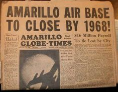 Amarillo Air Force Base to close Amarillo By Morning, Amarillo Tx, Air Force Bases, Do You Remember, Route 66, Inspire Me, Childhood Memories, Texas, My Favorite Things