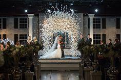 This alter is breathtaking!! Stunning Tulsa Wedding from Erica Weddings | Brooklyn + Press |  #bridesofok #oklahoma #wedding