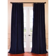 Signature Federal Blue Velvet 84-inch Blackout Curtain Panel   Overstock.com Shopping - Great Deals on EFF Curtains