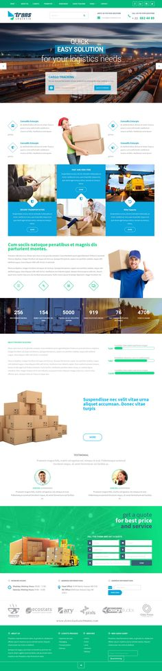 Trans Logistic - Transport & Cargo & Online Cargo Tracking & Business Responsive…