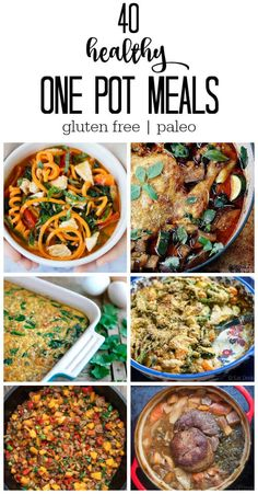 Here's to dinner made easy! No stress. No big mess. Check out these 40 healthy one pot meals to get you in and out of the kitchen in a snap.