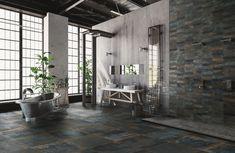 DIZAJNOVÁ KÚPEĽŇA - Výnimočné talianske obklady / BENEVA Terrazzo, Image Application, Click Flooring, Palm City, Loft, Wood Planks, Brick, Inspiration, Homes