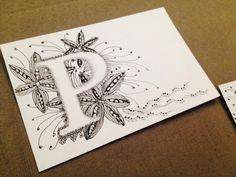 ZIA, Zentangle y letras de Paquita Campano, alumna del curso mensual. Impartido por María Tovar, CZT. www.elultimotangle.es