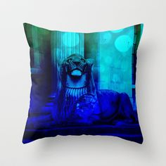 fly over lion Throw Pillow by seb mcnulty - $20.00