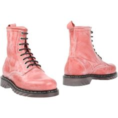 Davidson Ankle Boots ($69) ❤ liked on Polyvore featuring shoes, boots, ankle booties, pastel pink, leather ankle bootie, leather ankle boots, round toe boots, rubber sole boots y bootie boots