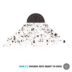 August 3 - Chicago Gets Ready to Rock #dailytwist Ads Creative, Creative Posters, Oreo Milk, Birthday Wishes For Boyfriend, Clever Advertising, Color Shapes, Oreo Cookies, Print Ads, Rock N Roll