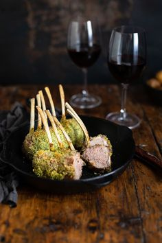 A herb crusted roast rack of lamb recipe