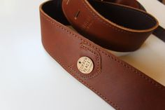 This leather and copper guitar strap.   25 Unique Gifts Music Lovers Will Want To Keep For Themselves