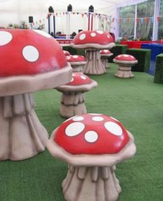 Alice in Wonderland Themed Party Event - Giant Mushrooms