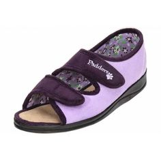 b80c94da6315 Padders Lydia EE Wide Fitting Washable Open Toe Velcro Slippers - Padders  from Jenny-Wren Footwear UK