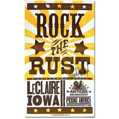 Mike Wolfe Autographed Hatch Show Poster Rock The Rust Antique Archaeology