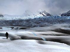 IPPA winner: Hiker traversing Perito Moreno glacier