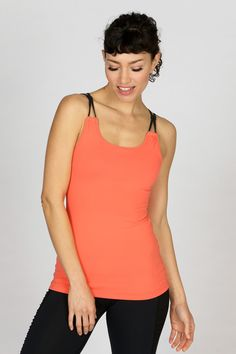 keep cool during workouts in this fitted tank with moisture wicking, breathable fabric. ruching detail down back supports movement. #tsuyabrand #kristiyamaguchi #activewear