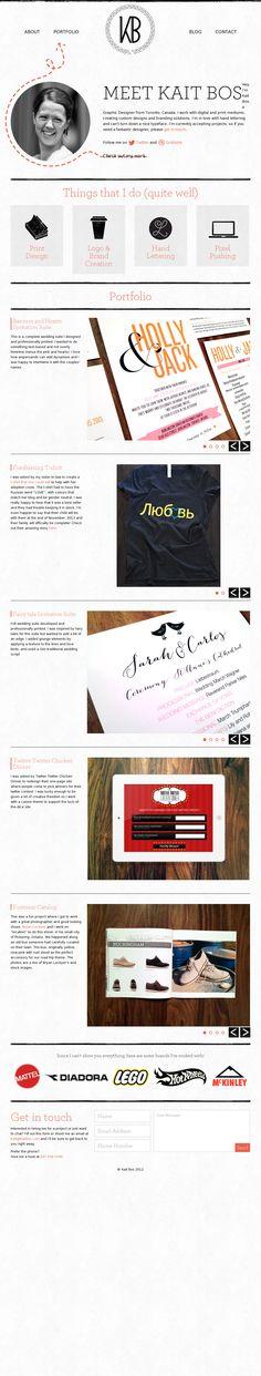 Kait Bos Website #website #design #inspiration