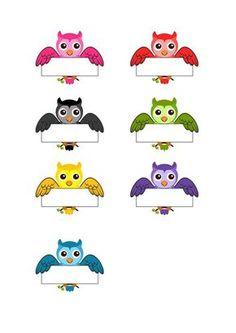 Owl Theme Classroom, Classroom Board, Classroom Labels, Classroom Displays, Classroom Organization, Bird Crafts, Cute Owl, Planner Stickers, School Supplies