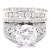 4.00CTW Cushion Cut Antique Style Diamond Engagement Ring C19 (I'm sorry but this is SO gaudy!)