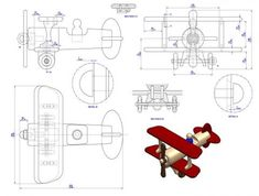 Fat biplane toy plan - Assembly drawing