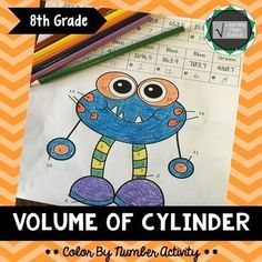Volume of Cylinder Color By Number ActivityPractice finding the volume of a cylinder with a self directed color by number activity. Students will work on solving the volume of a cylinder given radius and diameter problems. The activity could be set up in