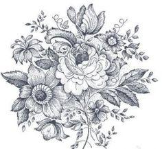 vintage wildflowers tattoo