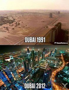 Regardez la transformation extrême de Dubaï : 1991 vs 2012