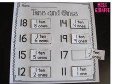 How to teach tens and ones and other place value concepts in first grade or kindergarten