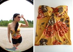DIY: Bra to Bustier - turn an old bra into a bustier. So easy and awesome ~ check this one one!!