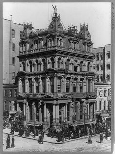 This is a picture of the Fireman's Insurance Building taken in It was in New York City, and was on the corner of Broad and Market str. New York Pictures, Old Pictures, Old Photos, Vintage Photos, Life Insurance Companies, Insurance Quotes, Victorian Photos, Vintage Architecture, Second Empire