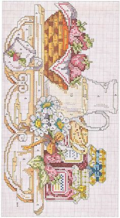 ru / Photo # 20 - a pa Cross Stitch Kitchen, Cross Stitch Kits, Counted Cross Stitch Patterns, Cross Stitch Charts, Cross Stitch Designs, Cross Stitch Embroidery, Cross Stitch Flowers, Christmas Cross, Cross Stitching
