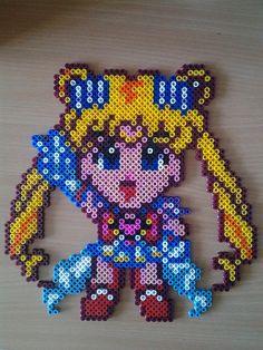 The World's Best Photos by lulucreations Manga Anime, Sailor Moon Wallpaper, Fusion Beads, Perler Patterns, Perler Beads, Beading Patterns, Pixel Art, Fun Crafts, Cross Stitch Patterns