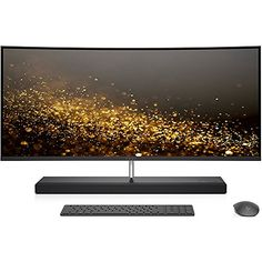 HP ENVY 34-inch Curved All-in-One Computer, Intel Core i7-7700T, 16GB RAM, 1TB hard drive, 256GB SSD, Windows 10 (34-b010, Silver)