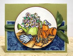 Watering Can by wendyp81 - Cards and Paper Crafts at Splitcoaststampers