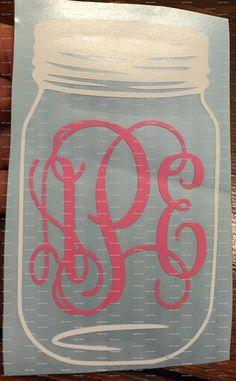 Mason Jar decal by Idealinitials on Etsy