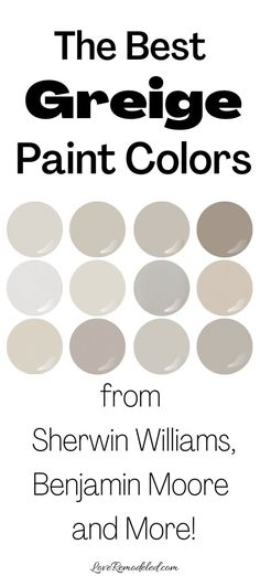 Best Greige Paint Color, Greige Paint Colors, Light Paint Colors, Paint Colors For Living Room, Paint Colors For Home, Paint Colors For Basement, Best Bedroom Paint Colors, Office Paint Colors, Spare Bedroom Paint Ideas