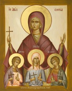 The Eastern Orthodox Church Saint Sophia and her three daughters