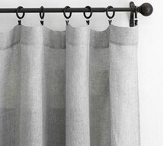 Belgian Linen Flax Sheer Drape $67