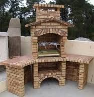 Ronny is telling you:'Grillkamin' Outdoor Kitchen Patio, Outdoor Oven, Outdoor Kitchen Design, Outdoor Cooking, Outdoor Living, Backyard Retreat, Backyard Landscaping, Backyard Bbq, Parrilla Exterior