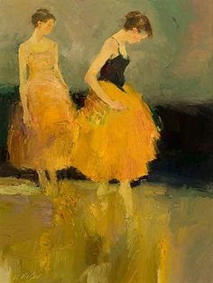'Dancers' by Dan McCaw, contemporary American expressionist painter, b.1942.