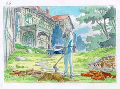 Classic Art, Anime Scenery, Traditional Paintings, Cool Art, Miyazaki Art, Animation Storyboard, Watercolor Artwork, Landscape Art, Landscape Drawings