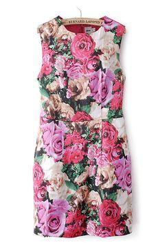 dress - http://zzkko.com/n233057-uropean-and-American-style-counter-models-big-flower-print-sleeveless-dress-Slim-temperament-models.html $34.57