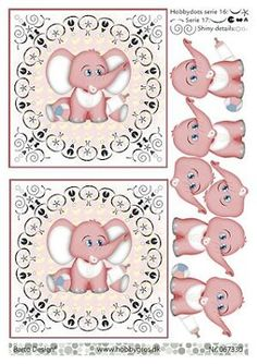 New Born Baby Card, Image 3d, Cute Animals, Wild Animals, Free Printable Cards, Paper Embroidery, 3d Cards, Marianne Design, Decoupage Paper