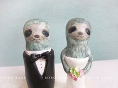 Custom Love Wedding Cake Toppers Sloth With Base