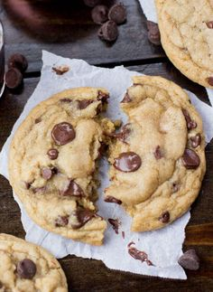 "A warm chocolate chip cookie fresh out of the oven with melty chocolate chips -- Once you try these ""Worst"" Chocolate Chip Cookies, there's no going back"