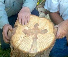 A Cross found in a tree while being cut down in Escondido, California! God is amazing!