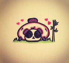 Attempting hand drawn dailies :) Definitely an interesting change. #dailydrawing #art #panda