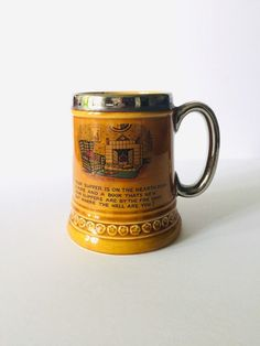 """Humorous """"Supper Is On The Hearth""""  Lord Nelson Pottery Beer Stein - Vintage, Pubware, Breweriana, Barware. Man Cave, Food & Drink, Kitchen Red Rose Tea, Old Factory, Beer Stein, Hearth, Man Cave, Barware, How To Make Money, Lord, Pottery"""
