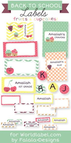 Free Printables: Back To School Labels and Note Book Covers by @falalalovely Enjoy :)