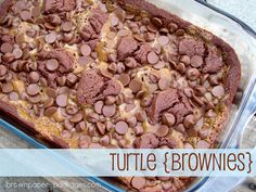Holy moly!!!  The yummies brownies ever!! TURTLE BROWNIES!!  {simplykierste.com}